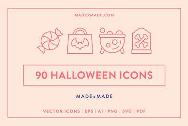 Line Icons     Halloween