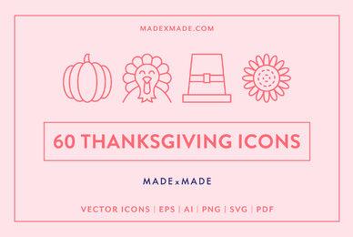 Line Icons     Thanksgiving