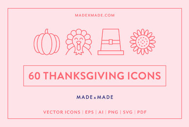 Line Icons     Thanksgiving
