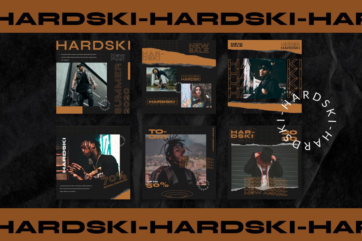 Hardski   Instagram Template