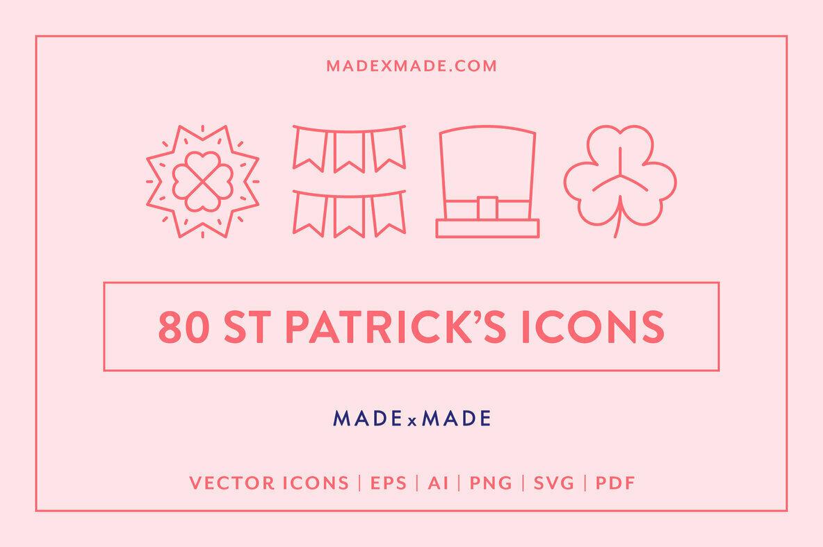 Line Icons     St Patricks Day