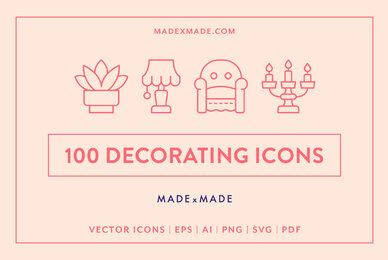 Line Icons     Decorating