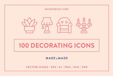 Line Icons     Decorating