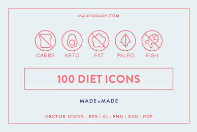 Line Icons     Diet