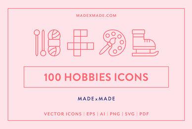 Line Icons     Hobbies