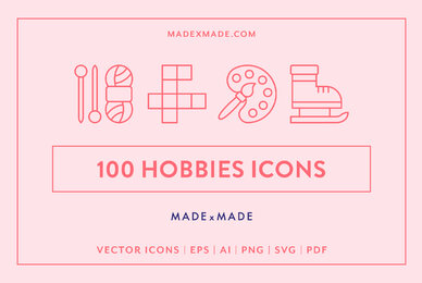 Line Icons     Hobbies