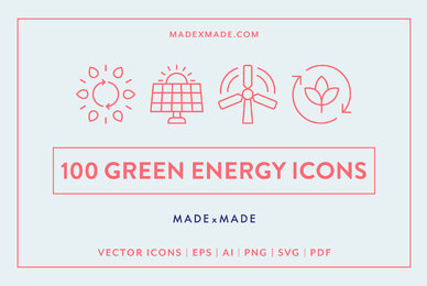 Line Icons     Green Energy
