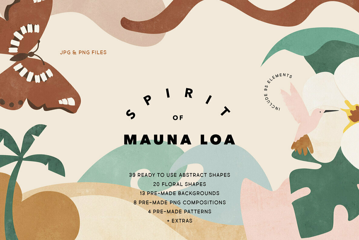 Spirit of Mauna Loa Abstract Shapes