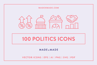 Line Icons     Politics