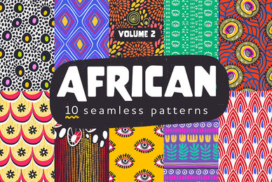 African Seamless Patterns Pack Vol 2