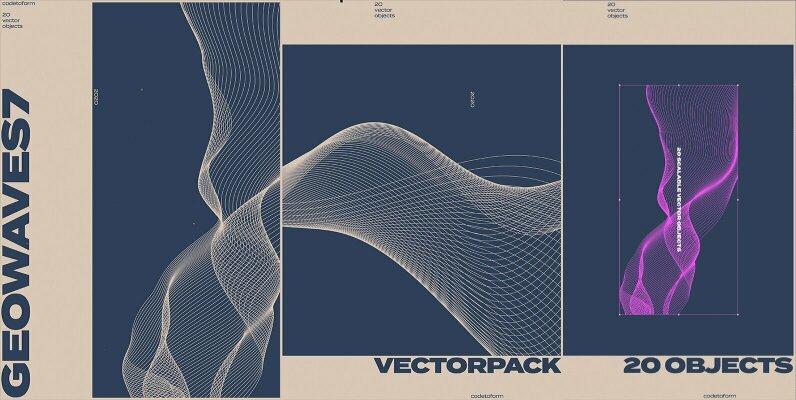 GEO WAVES7 Vector Pack