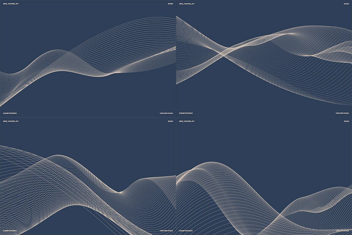 GEO WAVES7 Vector Pack