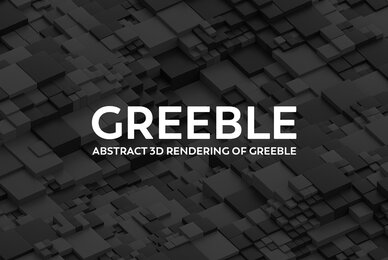 Greeble   Abstract 3D Gray Black and White