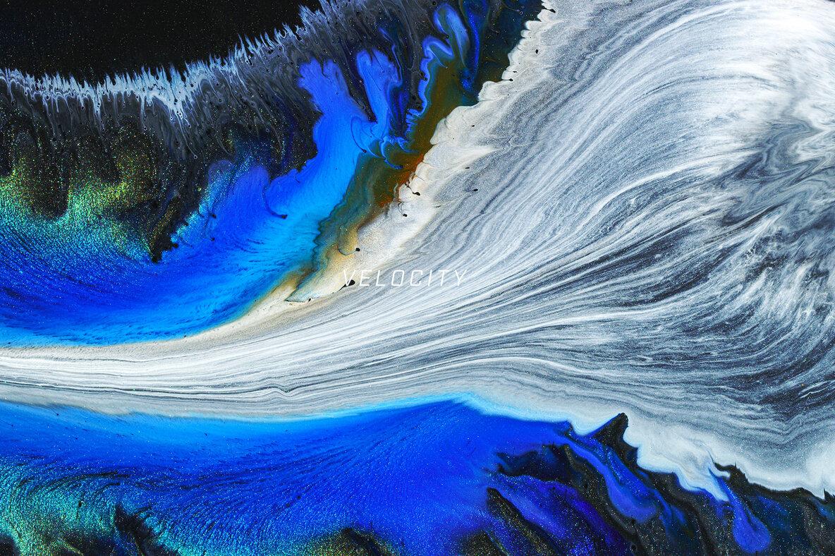 Velocity     8K Experimental Fluid Art Textures