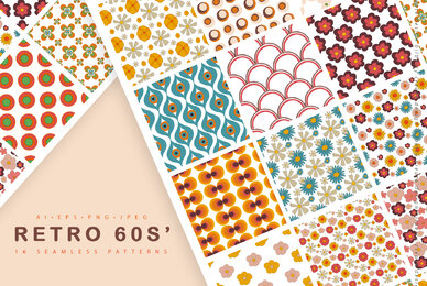 Retro 60s Seamless Pattern