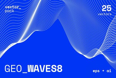 GEO WAVES8 Vector Pack