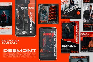 Desmont   Instagram Template