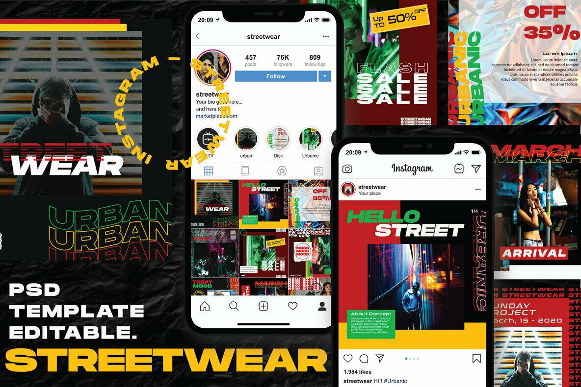 Streetwear   Instagram Template