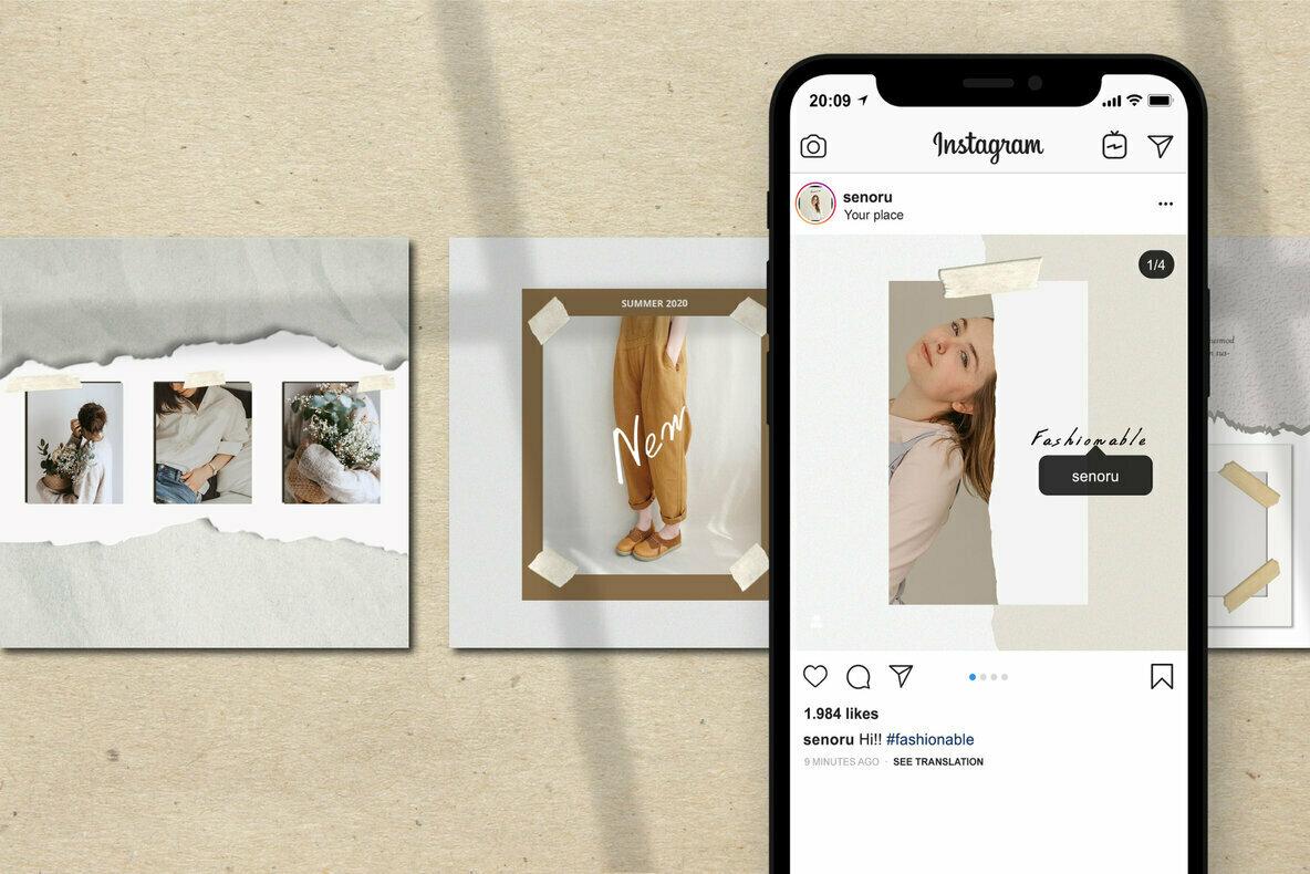 Senoru   Instagram Post and Stories