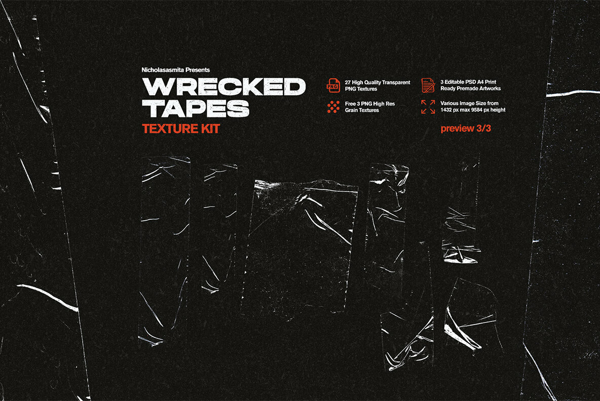 Wrecked Tapes Texture Kit