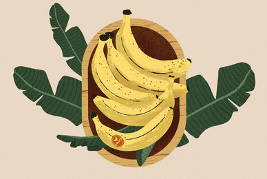 Banana Bowl Doodle Illustration and Patterns