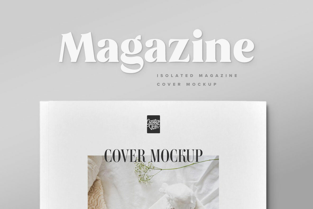 Magazine Cover Mockup Set