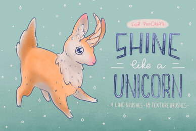 Shine Like a Unicorn Procreate Brushes