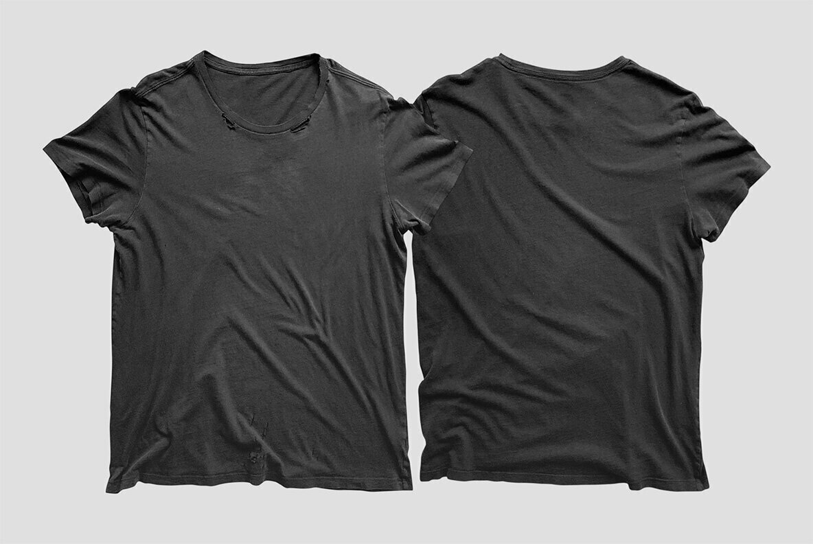 Vintage Distressed T Shirt Mockup