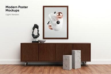 Modern Poster Mockups     Light