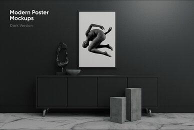 Modern Poster Mockups     Dark