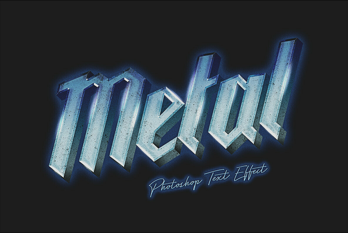 80s Metal Photoshop Text Effect