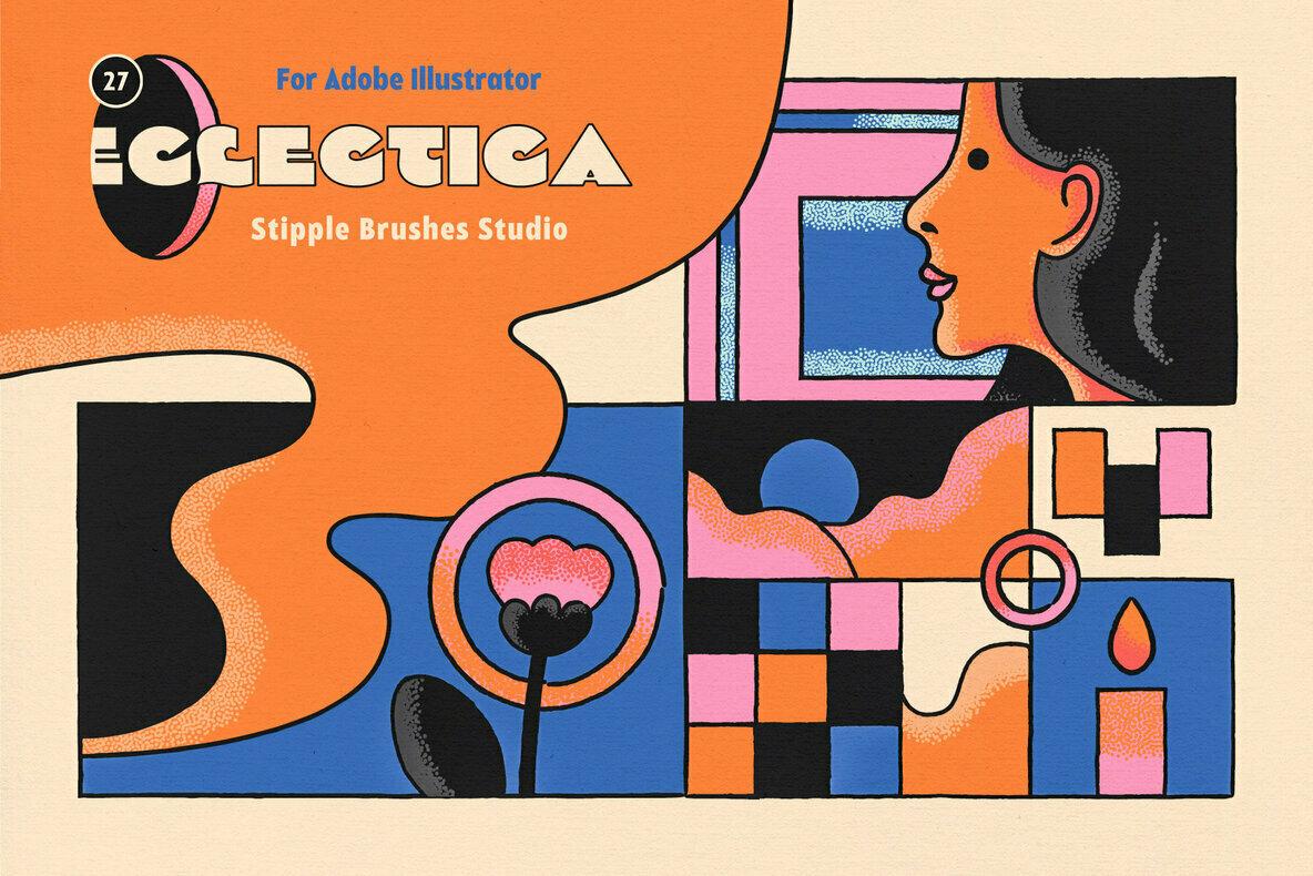 Eclectica Stipple Brushes for Illustrator