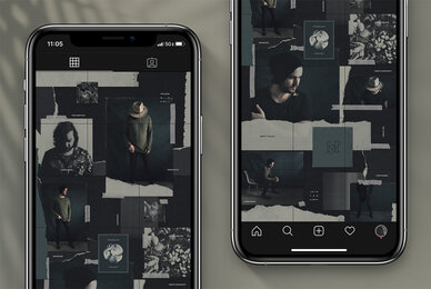 Seamless Dark Theme Instagram Puzzle