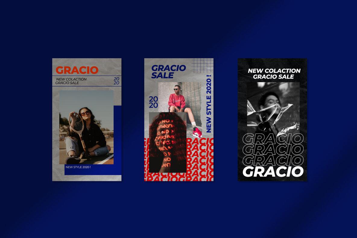 Gracio   Instagram Post and Stories