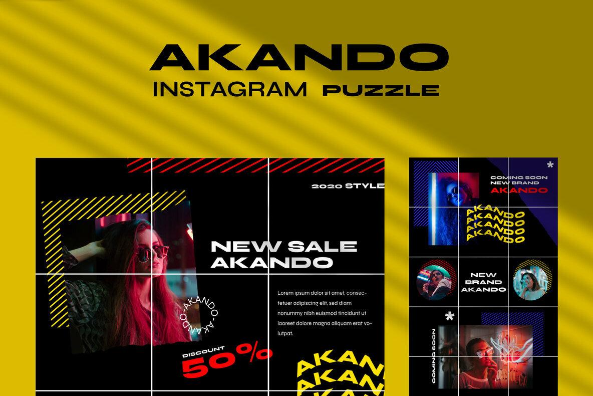 Akando   Puzzle Instagram Template