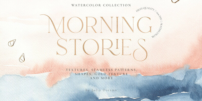 Morning Stories Watercolor Textures