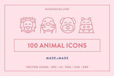 Line Icons     Animals