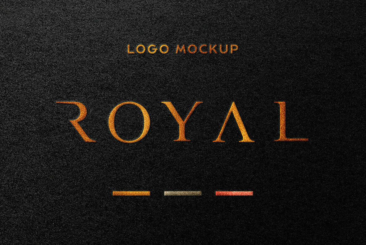 Foil Stamping Logo Mockup