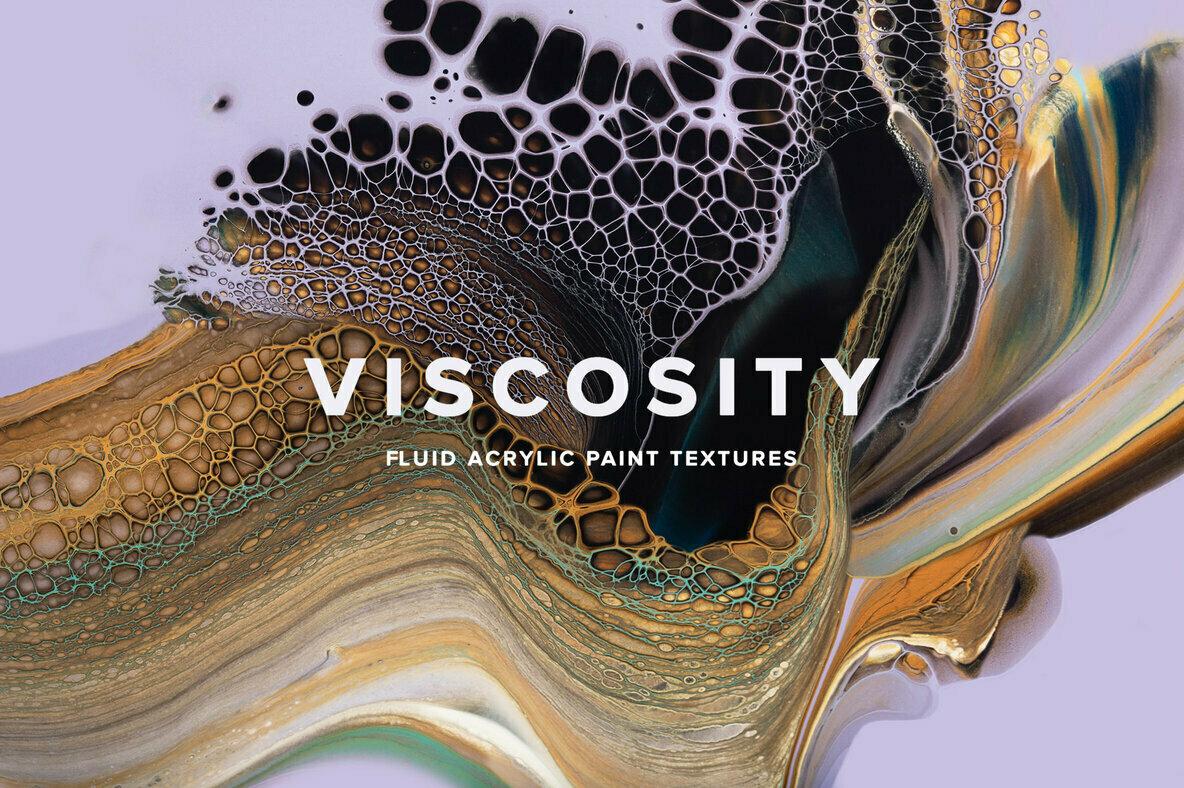 Viscosity     Fluid Acrylic Paint Textures