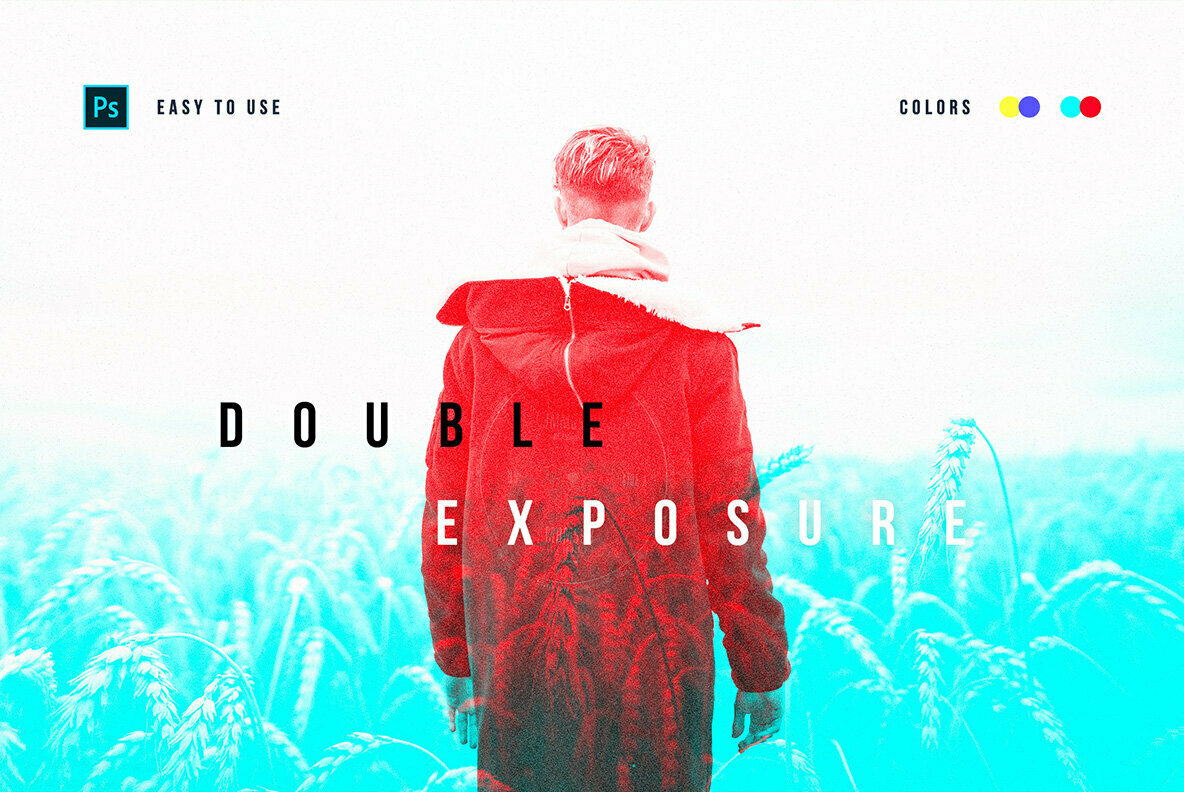 Double Color Exposure Photo Effect