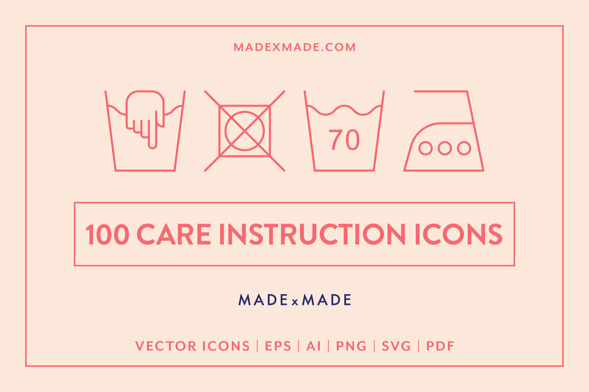 Line Icons     Care Instructions