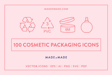 Line Icons     Cosmetic Packaging