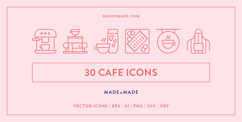 Line Icons     Cafe