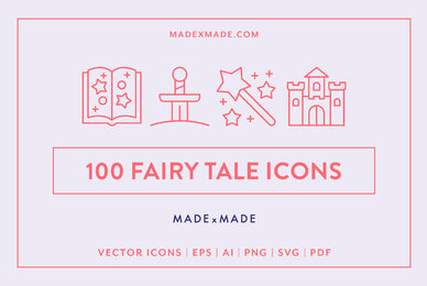 Line Icons     Fairy Tale