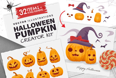 Halloween Pumpkin Creator Kit