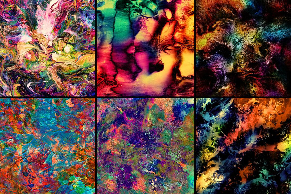 Vivid     Vibrant Ink   Paint Experiments