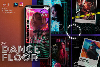 Dance Floor Instagram Post Stories
