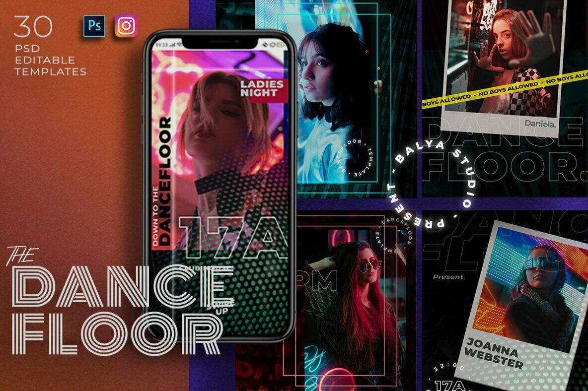 Dance Floor Instagram Post Stories