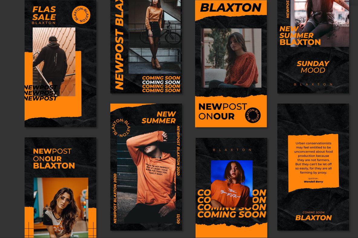 Blaxton Instagram Post Stories