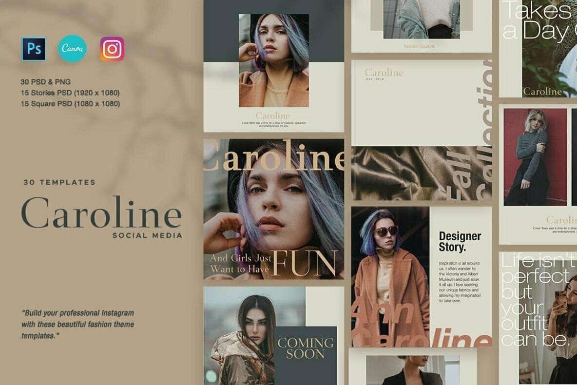 Caroline Instagram Post Stories